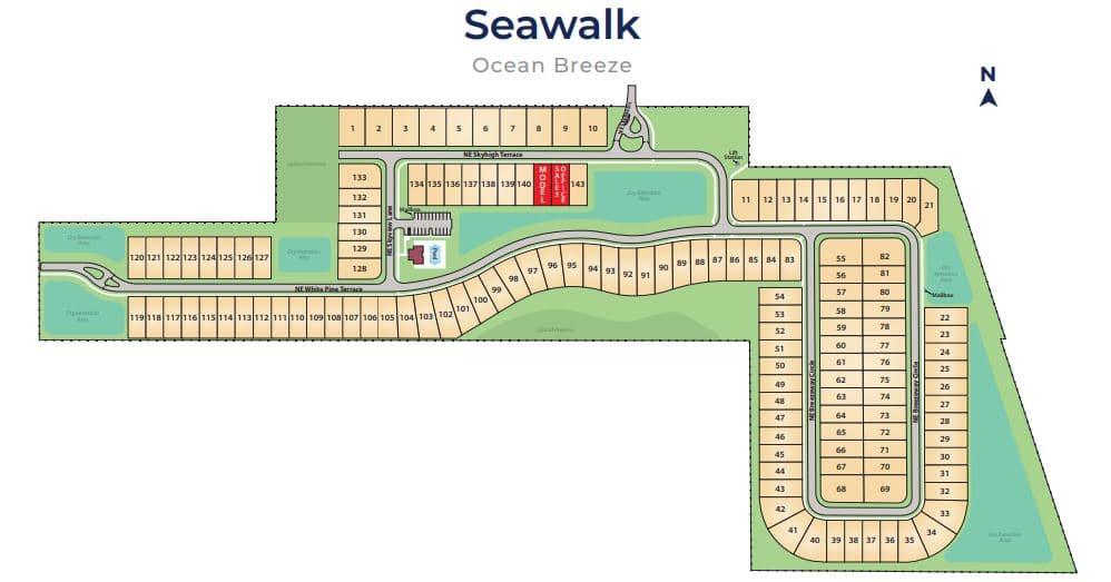 Ocean Breeze Seawalk Sitemap